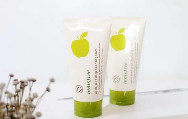 Sữa Rửa Mặt Innisfree Apple Seed Deep Cleansing Foam Với Chiết Xuất Táo Xanh Hàn Quốc